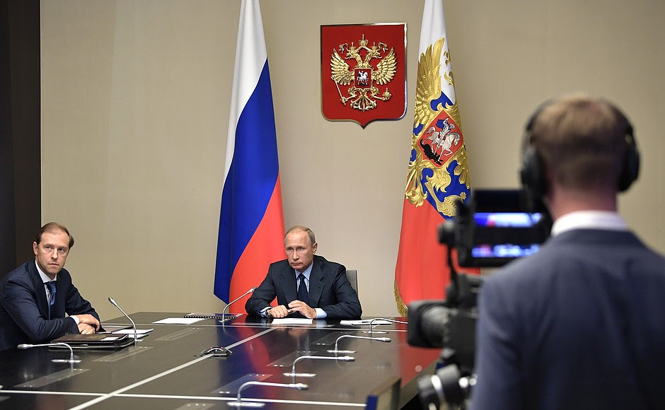 ThePresident listened toareport via videoconference onthedestruction ofRussia's last remaining chemical weapons.