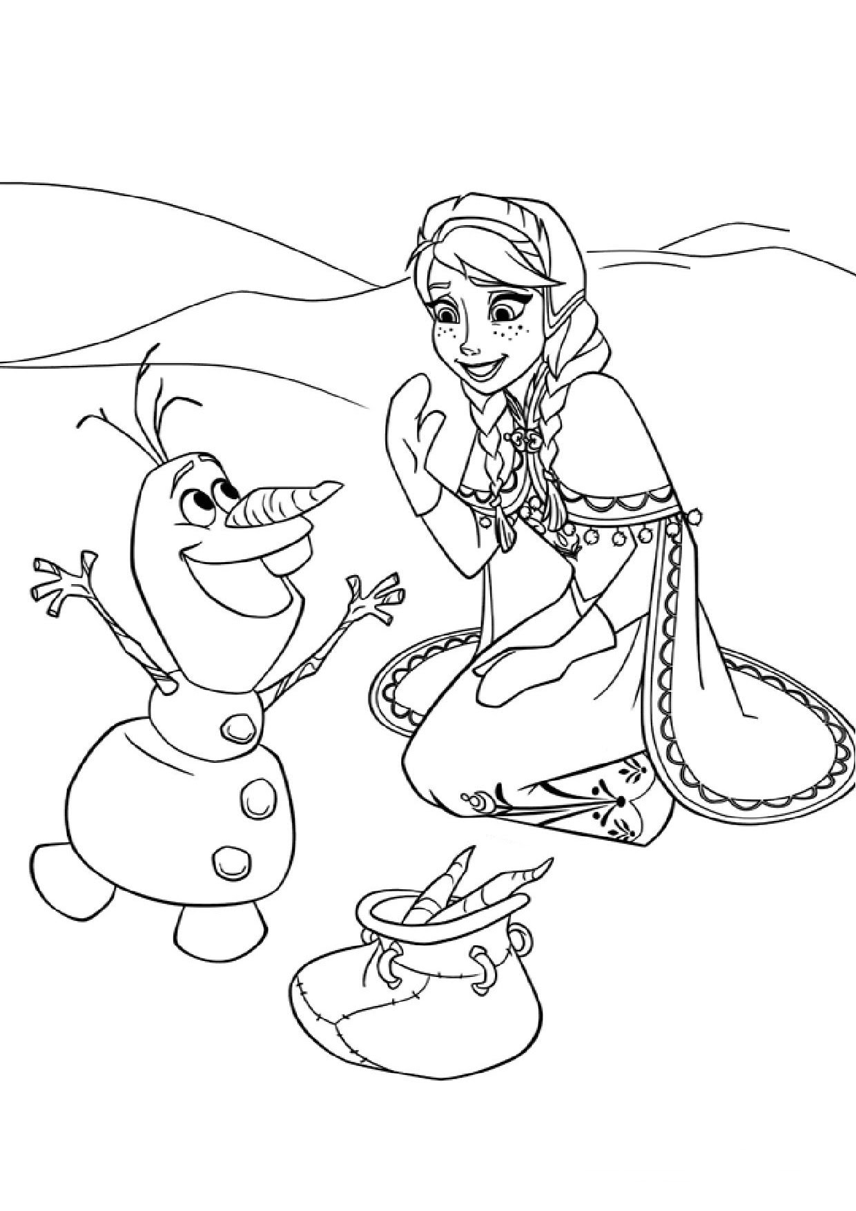 Coloriage reine des neiges gratuit dessin a imprimer 30
