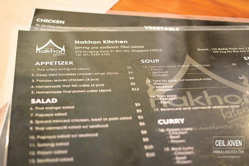 Nakhon Kitchen Bedok Menu
