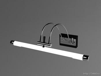 Modern beyaz duvar lambası 3D modeli