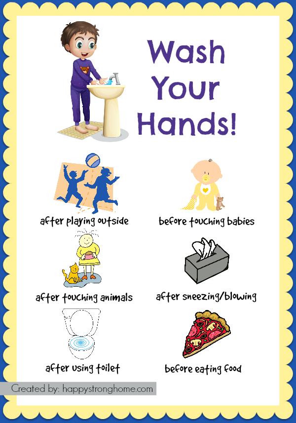 hand washing for kids printable