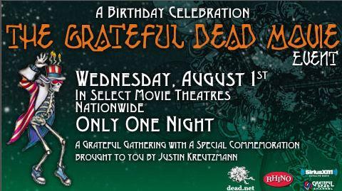 Jerry Garcia 70th Birthday Celebration Grateful Dead Movie Event