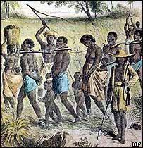 Ilustración sobre la trata de esclavos