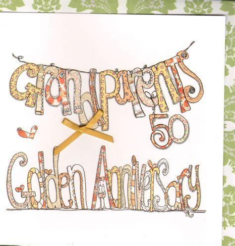 Grandparents Golden Wedding Anniversary Card   Karenza Paperie