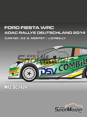 Mf-zone: Calcas escala 1/24 - Ford Fiesta WRC DSV Nº 23 - Sam Moffett (IE) + James O'Reilly (IE) - Rally de Alemania ADAC 2014 - para kit de Belkits BEL-003