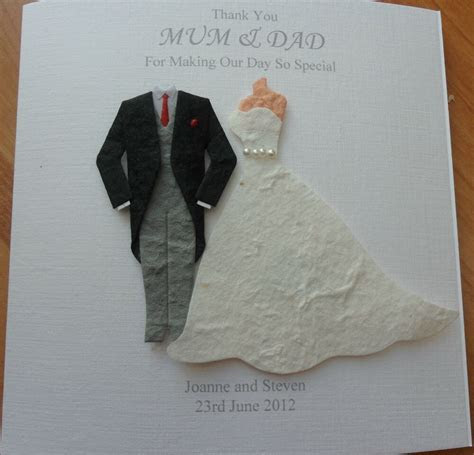 HANDMADE PERSONALISED WEDDING CARD BRIDE GROOM WEDDING DAY