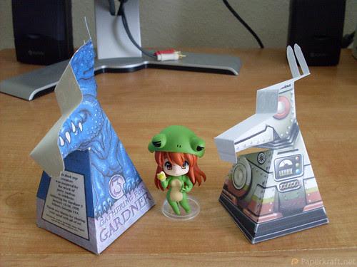 Super Robot Dog Paper Illusion 03