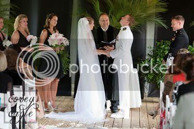 wedding ceremony at Lioncrest