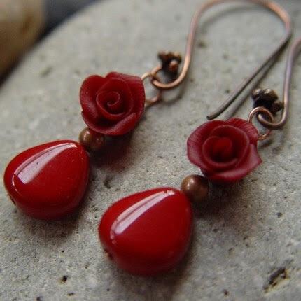 Merlot earrings pic