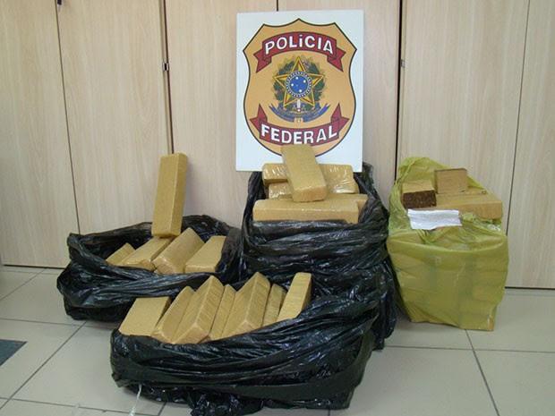 PF prendeu quadrilha com 100 quilos de maconha em Natal  (Foto: Divulgação/PF)