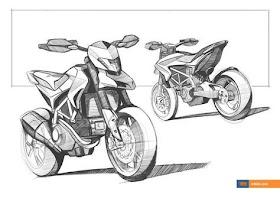 Sketsa Motor Ducati
