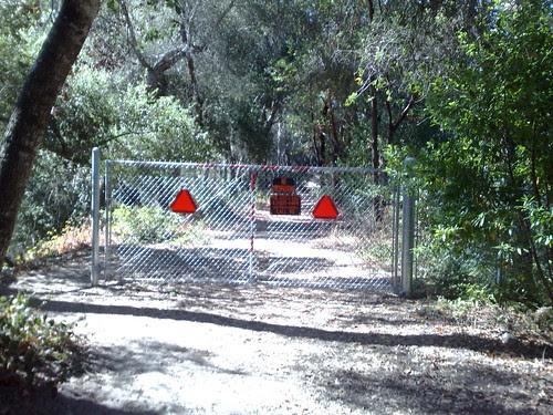 railroad grade trail to the right off of Zayante Schoolhouse
