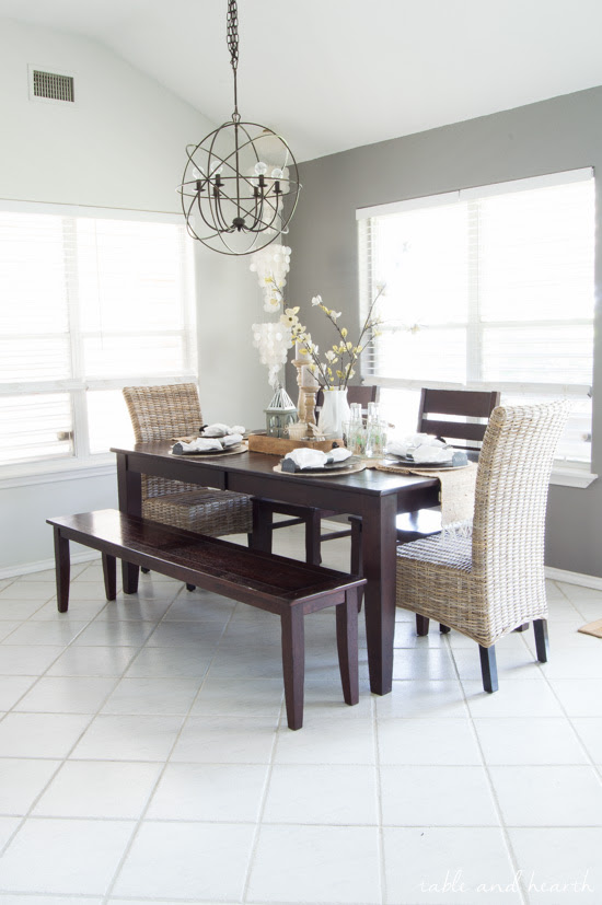 Dining Room Update: A Coastal Farmhouse Table Setting ...