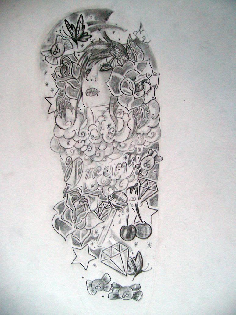 The Design Half Sleeve Tattoo Designs Drawings