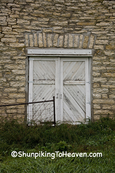 Doors on Drive-Through Stone Barn, Filmore County, Minnesota