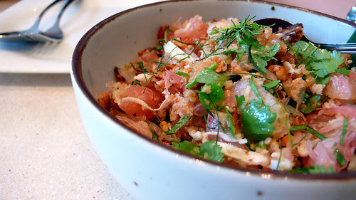 people's palace pomelo prawn and coconut salad