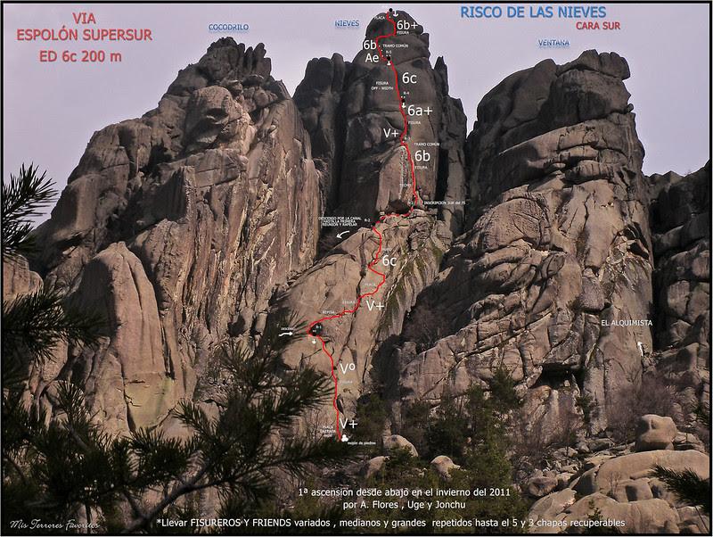 VÍA ESPOLÓN SUPERSUR 200 m 6c- RISCO DE LAS NIEVES