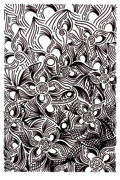 Pictures Of Cool Designs Patterns Black And White To Draw