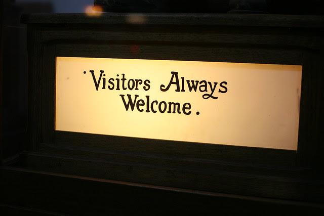 Visitors Always Welcome.