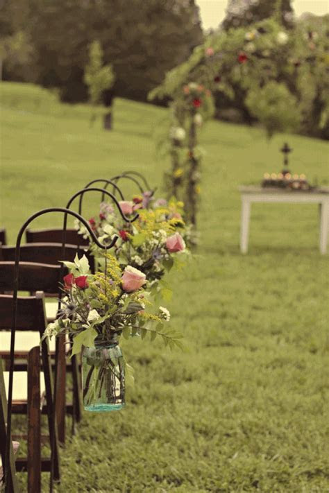 Rustic Outdoor Wedding Aisle   Weddings on a budget with
