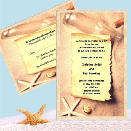 Brideca Fun Wedding Invitation Idea Message In A Bottle