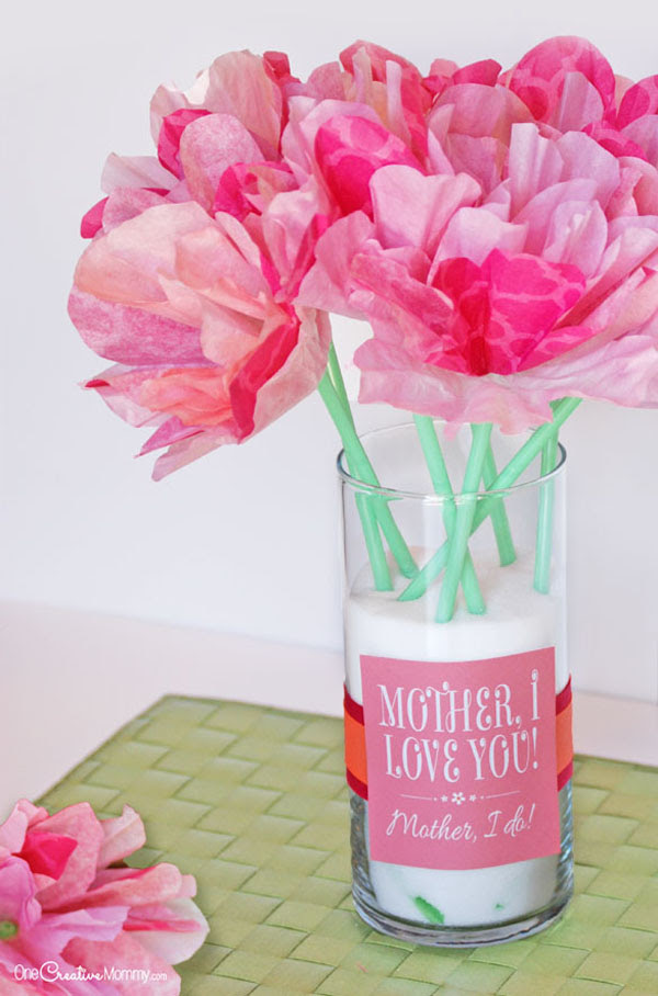 Cute Mother\u002639;s Day Gift Idea and Printables!  onecreativemommy.com