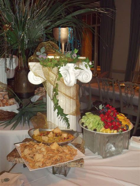 Greek Themed Buffet    wedding   Greek
