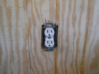 Female Electricity Receptacle in Place