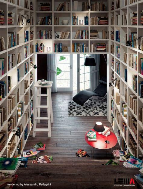 space saving home library design interior design ideas