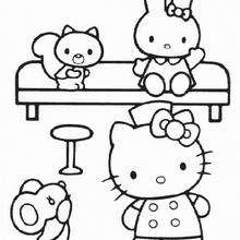 Hello Kitty At Home Coloring Pages Hellokidscom