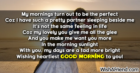 Good Morning Message For Wife Good Morning My Love Is All