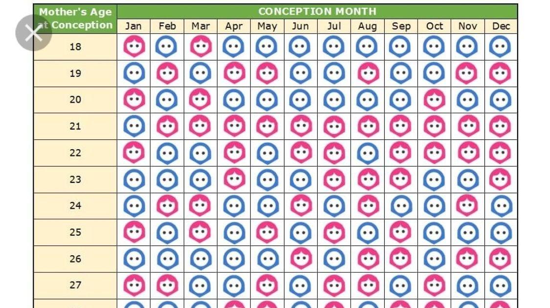 Chinese Gender Calendar 2021   2021 Calendar