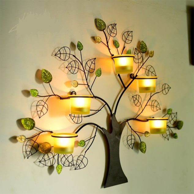 y tuong tranh nen nghe thuat 3d 1 634x634 15 Chic Wrought Iron Wall Candle Holders You Will Admire