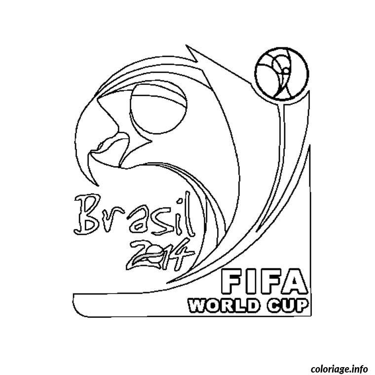 Coloriage Coupe Du Monde 2014 Jecoloriecom