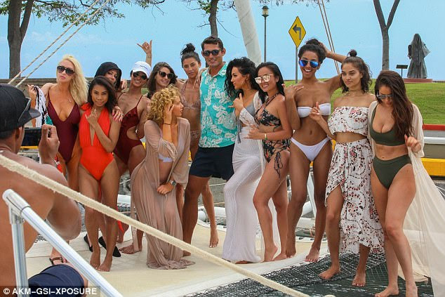 Boat party! The girls later took to the water and boarded a luxury yacht to continue their festivities