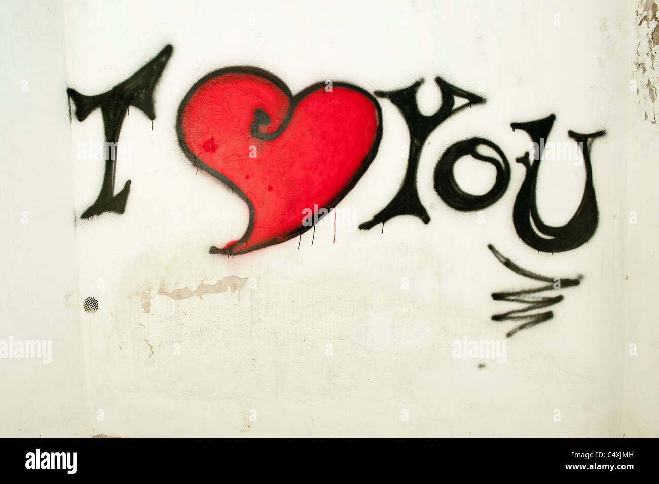 I love graffiti stock photos i love graffiti stock images alamy