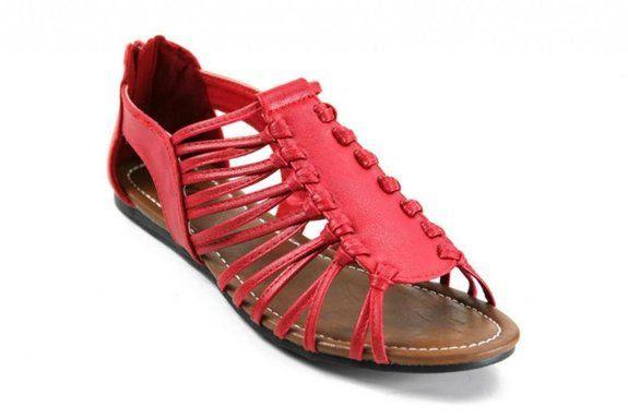 Kali Footwear Women's Over Strappy Flat Open Toe Ankle Sandal: Shoes