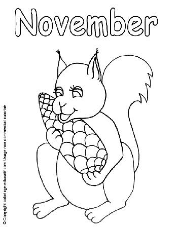 Coloriage Educatif Les Mois En Anglaisle Mois De Septembre En