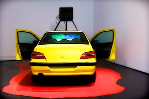 yellow car in gallery