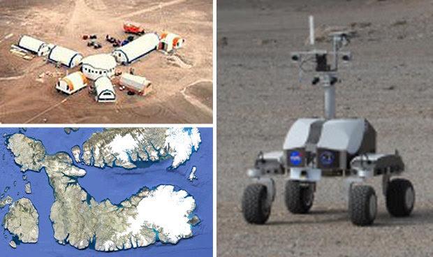 NASA's base on Devon Island, Canada