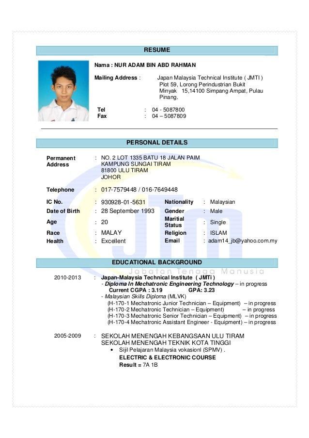 Contoh Resume Lepasan Spm Bahasa Melayu Nagoros