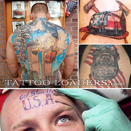 Twin Towers Tattoo. I don't think there is one red blooded American who will
