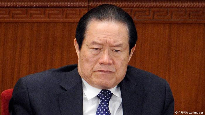 (FILES) In a file picture taken on March 5, 2012, Zhou Yongkang, a member of the Standing Committee of the Political Bureau of CPC attends the opening session of the National People's Congress (NPC) at the Great Hall of the People in Beijing. A group of Communist Party elders has issued a daring open letter calling for the removal of China's top security official, amid political upheaval ahead of a once-a-decade leadership transition. The calls for the sacking of Zhou Yongkang, one of China's top nine leaders, are closely linked to the recent fall of Bo Xilai -- another high-ranking official -- which triggered the nation's biggest political scandal in decades. AFP PHOTO / LIU JIN / FILES (Photo credit should read LIU JIN/AFP/GettyImages)