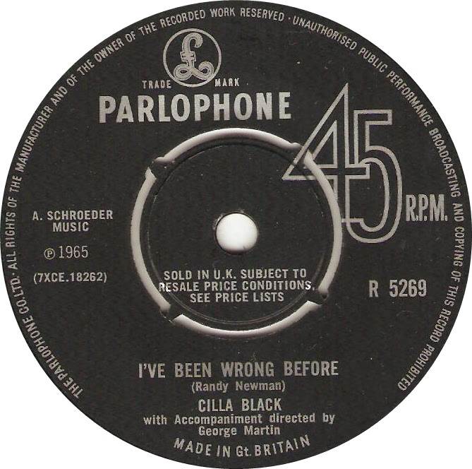 Cilla Black Sings Randy Newman Ive Been Wrong Before 1965