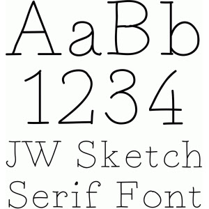 Serif Sketch Font #53543