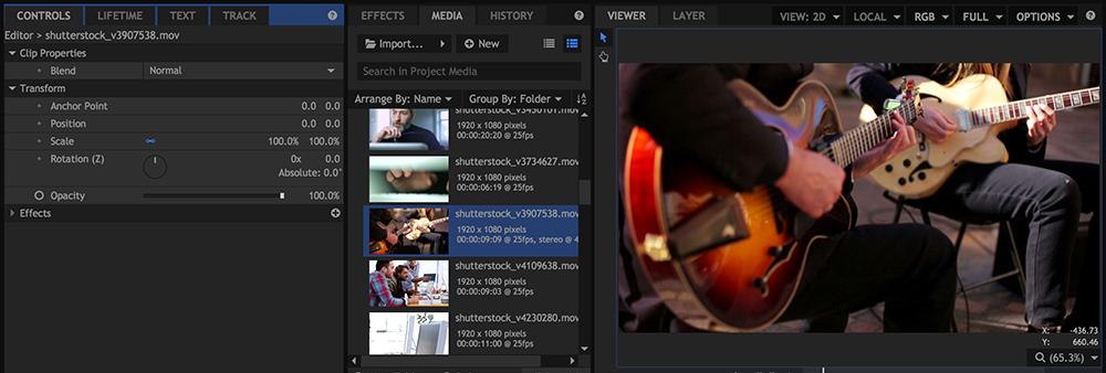 HitFilm 4 Pro: Video Editing Interface