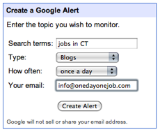 Google Alerts for Jobs