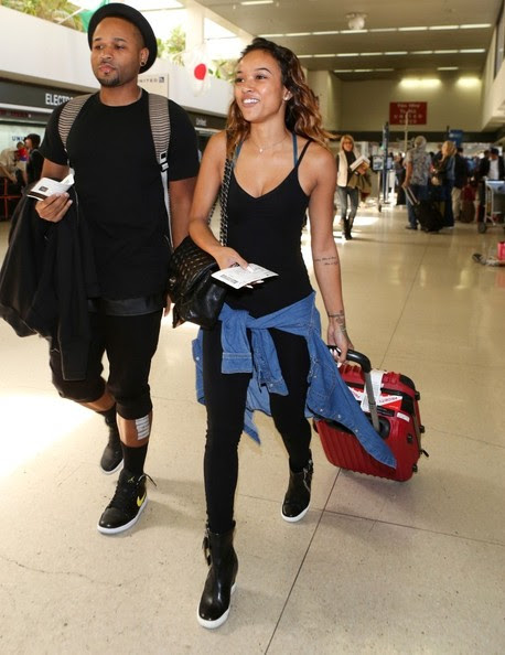 Karrueche Tran spotted at LAX.