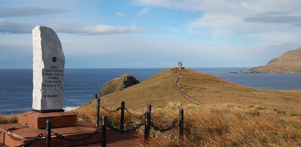 Situado no Estreito de Drake na Terra do Fogo, em território chileno, o Cabo Horn é o ponto mais austral do mundo