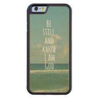 Bible Verse: Be Still and Know Carved® Maple iPhone 6 Bumper Case